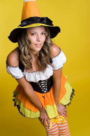 Cute Halloween Woman Stock Photo - 3641496