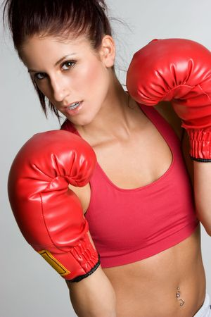 Boxing Woman Stock Photo - 3641436