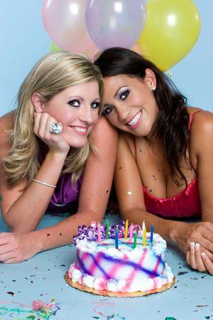 Cumpleaños de las niñas Foto de archivo - 3641380
