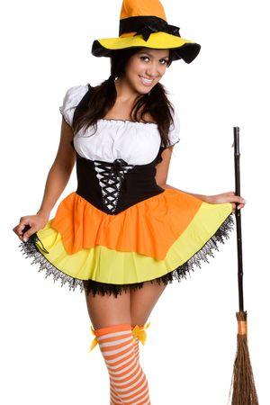 traje mexicano: Chica de Halloween  Foto de archivo