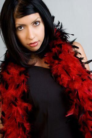 boas: Donna che indossa boa piuma