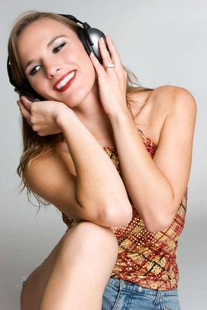 Smiling Music Woman Stock Photo - 3701711