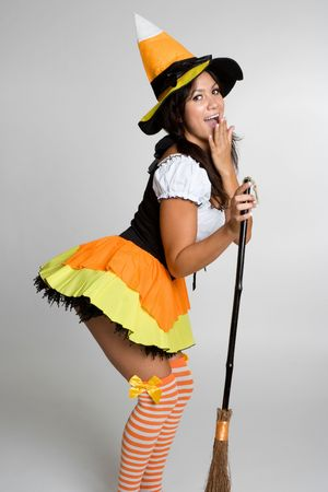 Surprised Halloween Witch photo