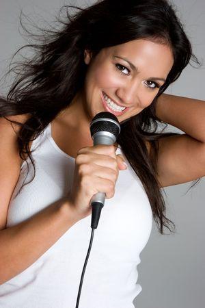 Singing Hispanic Stock Photo - 3701716