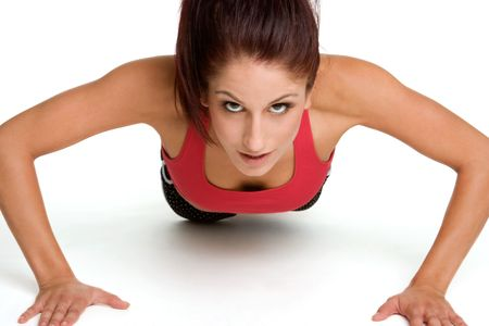 push ups: Woman Doing Pushups LANG_EVOIMAGES