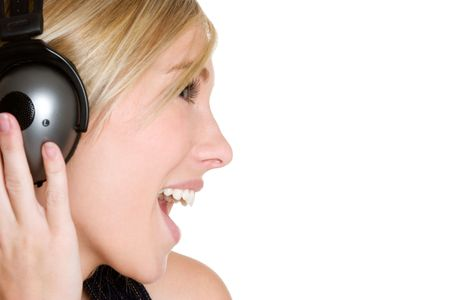 Headphones Woman Stock Photo - 3811296