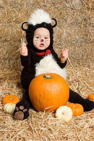 Halloween Baby Stok Fotoğraf