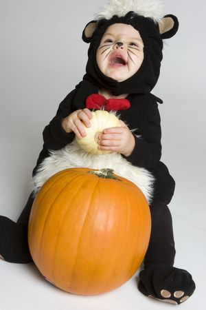 Laughing Halloween Baby Imagens