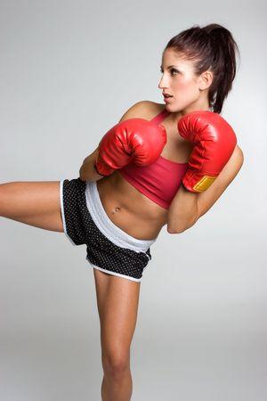 Kick Boxing Woman Stock Photo - 3804329