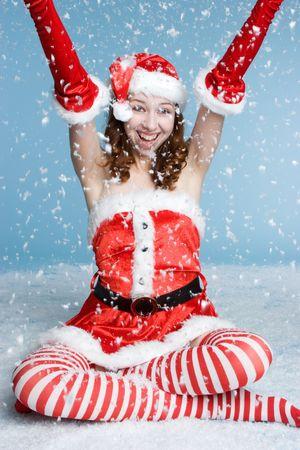 Snow Santa 版權商用圖片