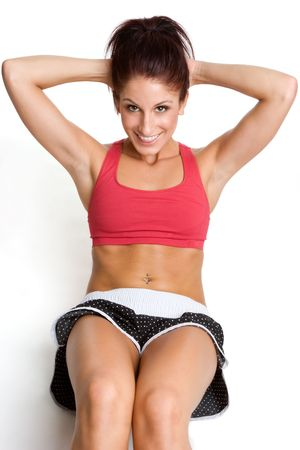 spandex: Woman Doing Situps LANG_EVOIMAGES