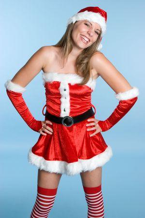 Laughing Santa Woman Stock Photo - 3796001