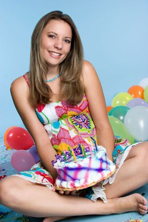 Beautiful Cake Girl Stock Photo