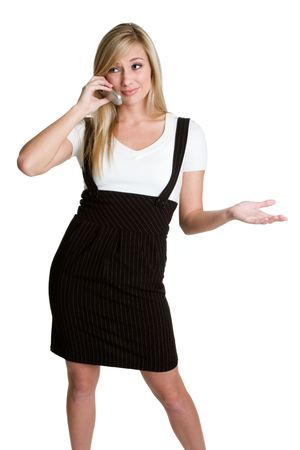 Businesswoman on Phone Stock Photo - 3811577