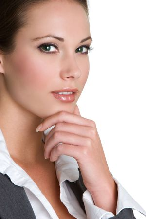Thinking Businesswoman Stock Photo - 3830053