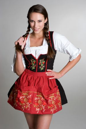 dirndl: Smiling German Girl