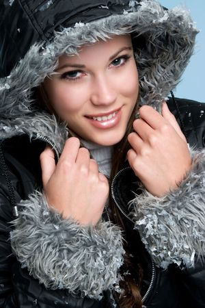 Smiling Winter Woman Stock Photo - 3830741