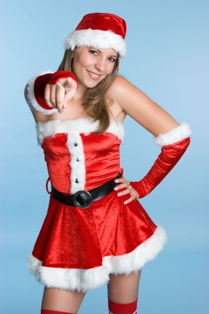 Beautiful Christmas Girl Stock Photo - 3830061