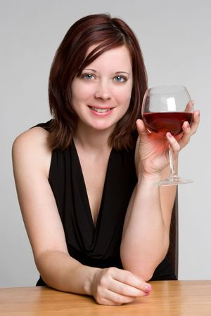 Woman Drinking Wine photo