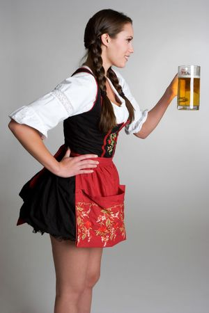 German Woman With Beer Stock Photo - 3830064
