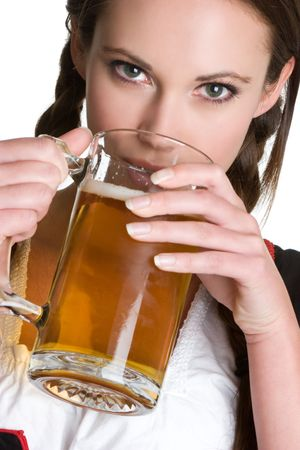 Woman Drinking Beer Stock Photo - 3906303