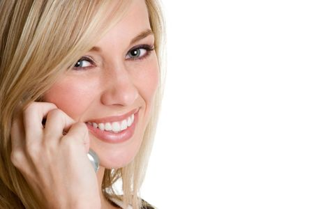 Blond Phone Woman Stock Photo - 3902184