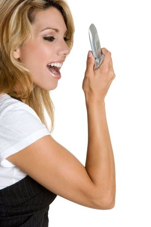 Woman Yelling in Phone Stock Photo - 3906311