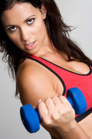 Woman Lifting Dumbbells Stock Photo - 3906313