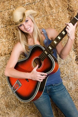 country girls: Country Music Girl Stock Photo