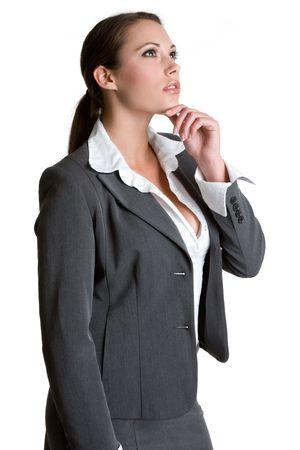 Thinking Businesswoman photo