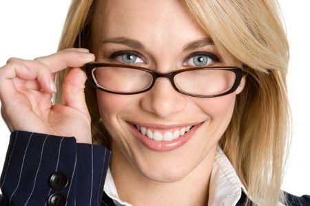 eye wear: Mujer llevaba gafas