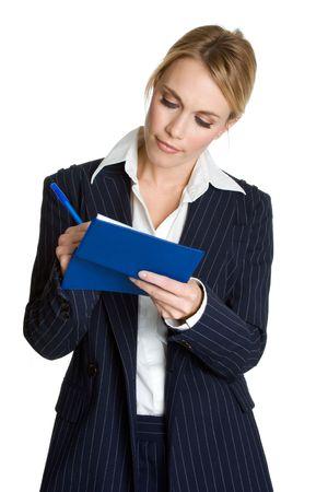 Businesswoman Writing Checks Stock Photo - 3967747