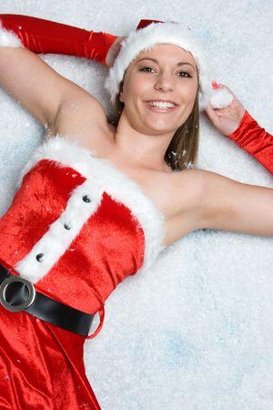 Beautiful Christmas Snow Woman Stock Photo - 3963195
