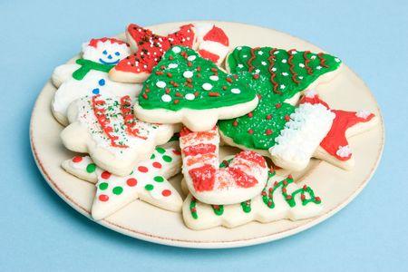 christmas cookies: Christmas cookies op Plate