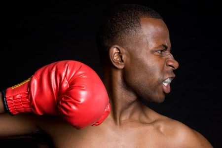 African American Boxer Stock Photo - 4041619