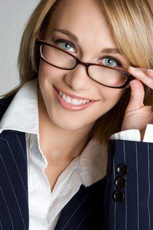 Woman Wearing Glasses Stock Photo - 3999339