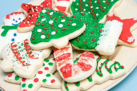 Christmas Cookies on a Plate Stock Photo - 4041632