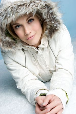 Winter Snow Woman Stock Photo - 4041625