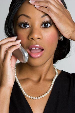 Shocked Phone Woman Stock Photo - 4055977