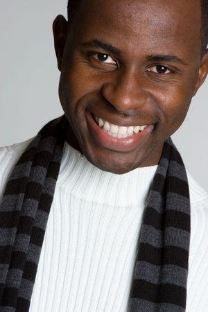 Winter Man Smiling Stock Photo - 4055980