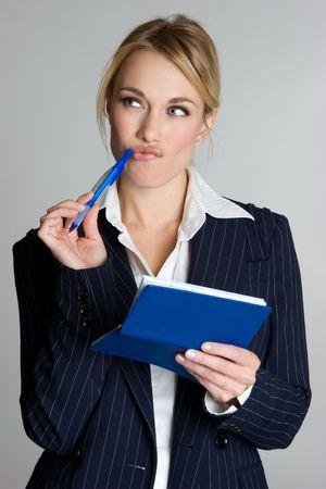 Businesswoman Writing Check Stock Photo - 4044745