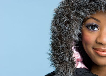 fur hood: Winter Woman