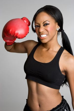 Female Boxer Stock Photo - 4055999