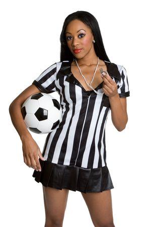 arbitri: Arbitro Con Soccer Ball Archivio Fotografico