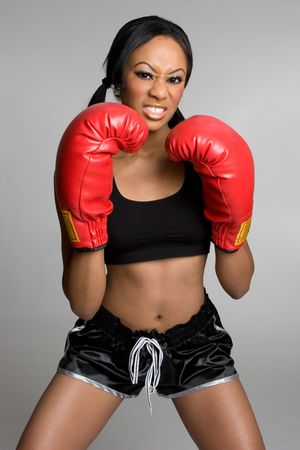 Upset Boxing Woman photo