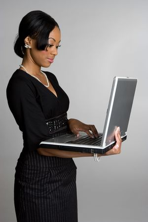 Woman With Laptop Stock Photo - 4056000
