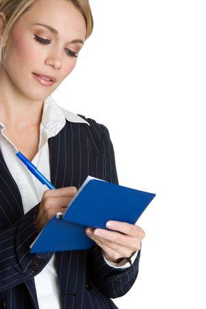 Woman Writing Checks Stock Photo - 4056001