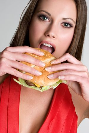 Fast Food Woman Stock Photo - 4056004