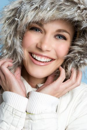 Laughing Winter Girl Stock Photo - 4082198