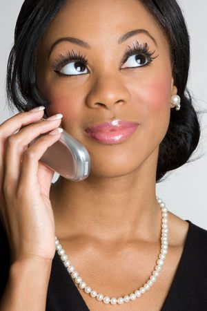 human skin cells: Businesswoman on Phone